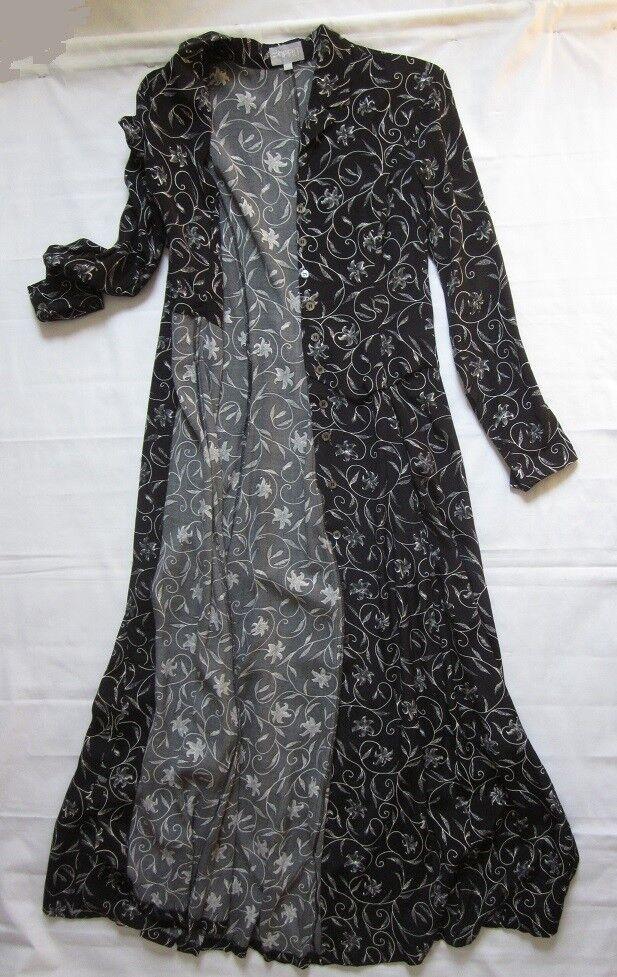 NEW Esprit  damen Maxi Shirtdress schwarz Floral Print Größe 38