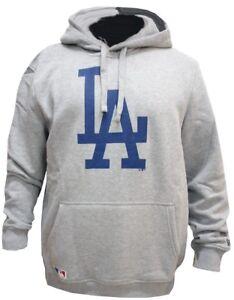 New-Era-Los-Angeles-Dodgers-Felpa-con-cappuccio-Grigio-Maglione-Pullover-Uomo