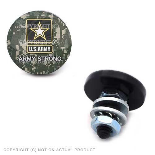 ARMY STAR CAMO 2 Black Sm License Plate Frame Tag Bolt Kit 059
