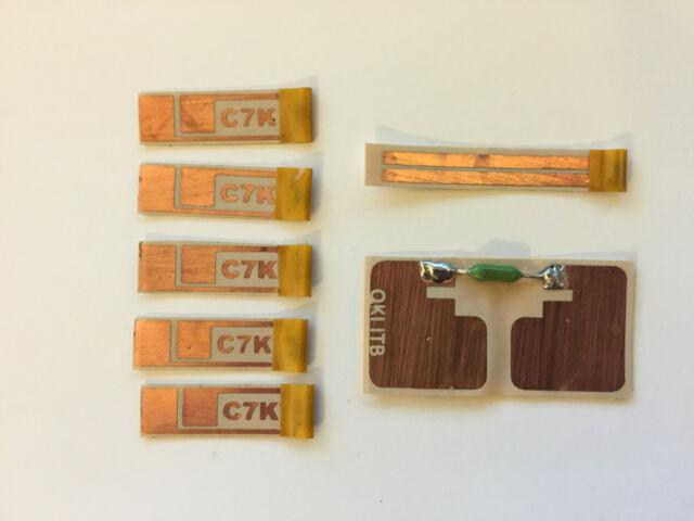 """7x """"Peel & Stick"""" Drum Fuser ITB Reset Kits for OKI C7100 C7300 C7500 C7550 C7KO"""