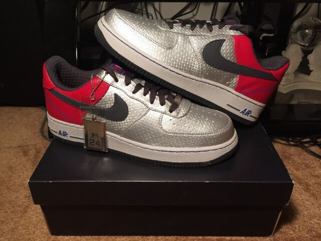 quality design 33b8e f7a8f New Nike Air Force 1  07 Premium Jones Metallic Silver Anthracite Varsity  Red 10