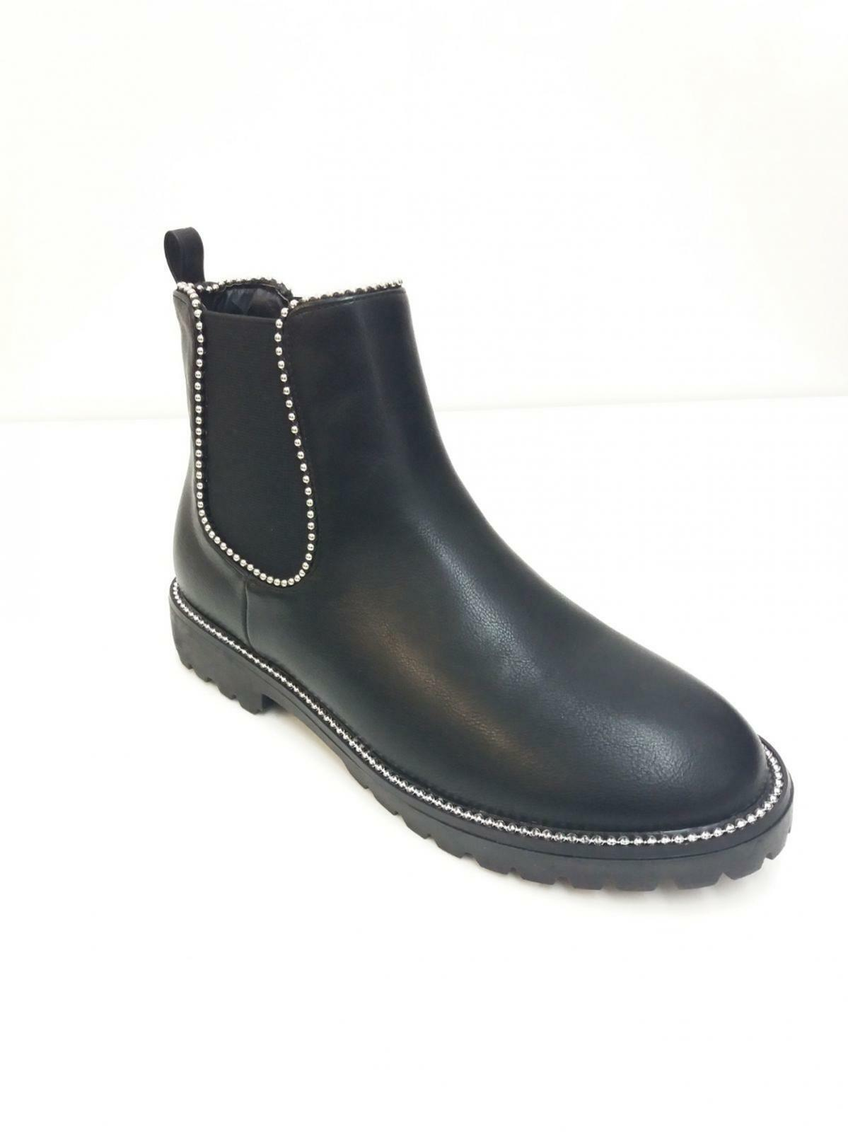 LADIES WOMEN CHELSEA ANKLE BOOT STUDDED LATEST FASHION SHOES 3-8