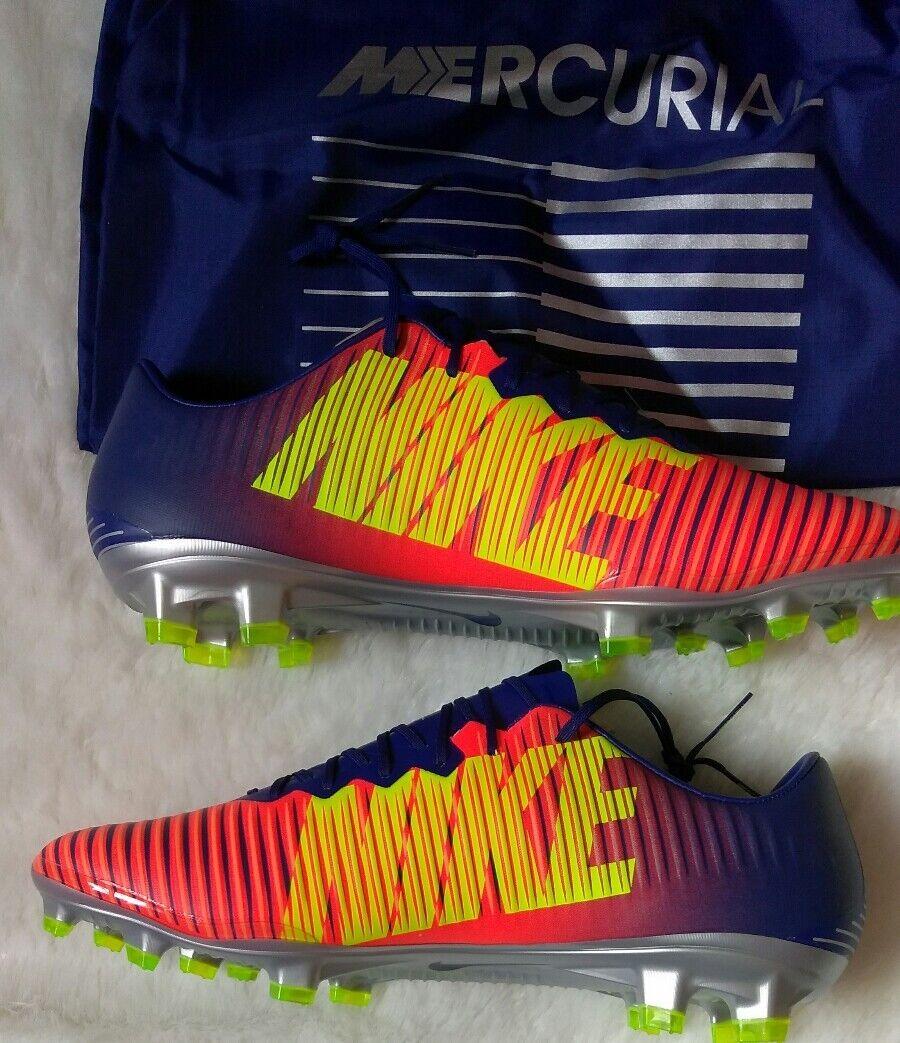 Taille 10 Homme Nike Mercurial Vapor XI FG argent Royal Chrome 831958 408 Orange