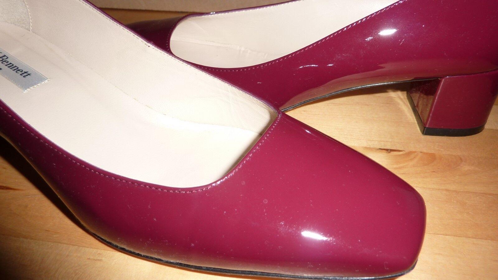 L K LK BENNETT shoes Burgundy Red 40 7 BORDEAUX BERNICE Patent Leather BNIB FAB
