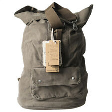 GOOTUCH Canvas Vintage Backpack Barrel Bag Rucksack Large Capacity Coffee 6612