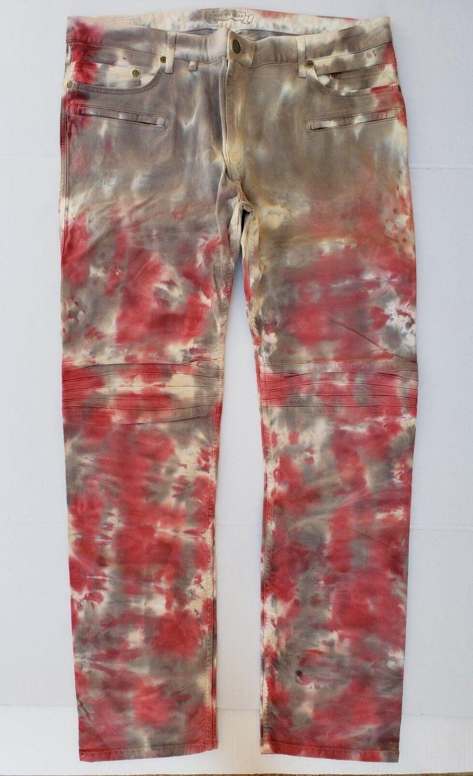 New Men'S ROBIN'S JEAN sz 42 Motard Slim Straight Jeans  SP5475MOTARD