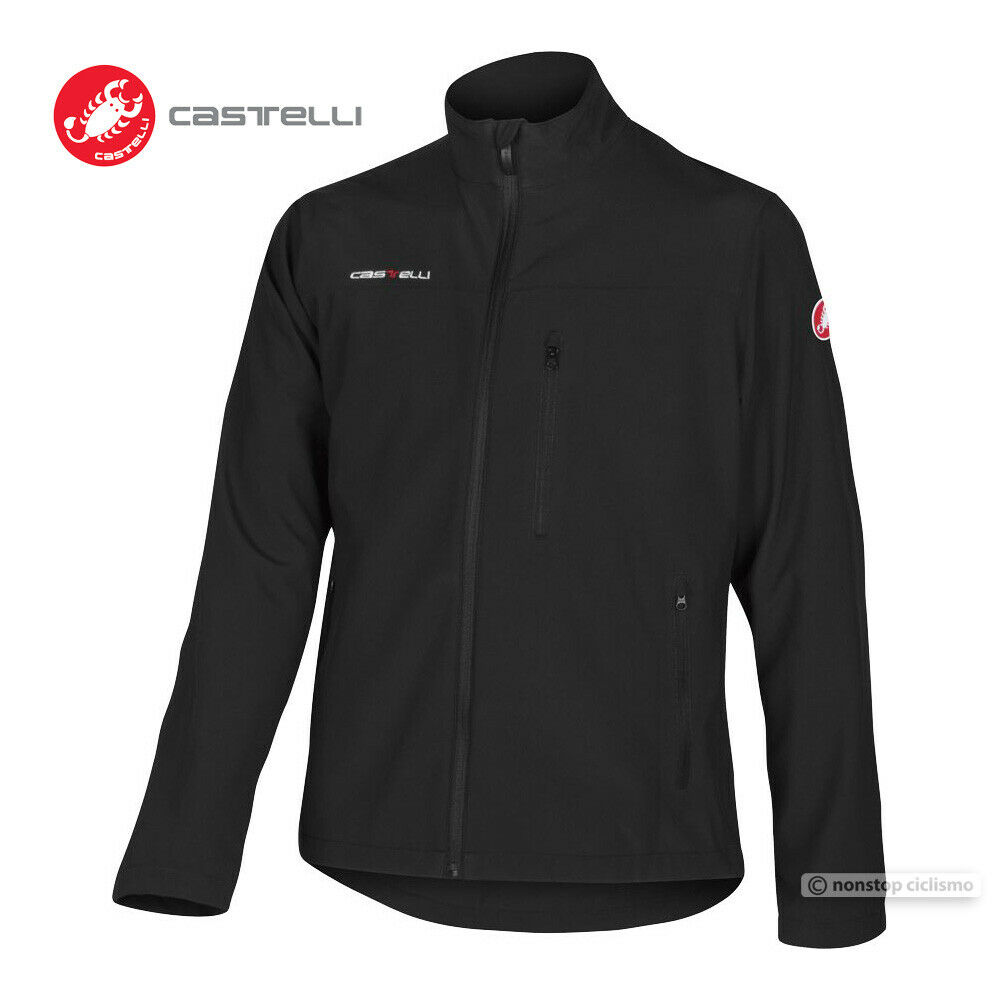 Castelli RACE DAY JACKET Casual Soft-Shell Warm Up Wind Jacket   schwarz