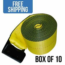 Durable Winch Strap With Flat Hook For Flatbed Trailer 10 Pack 4 X 30