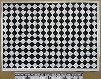 A4 Blatt Puppenhaus 1//12th Maßstab Rot Stein Papier 297x210 MM