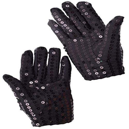 Kids Child Sparkling Sequin Gloves Michael Jackson Costume For Party Dance Z