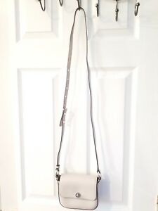 06317285f1d9 Image is loading 198-MICHAEL-Michael-Kors-Cement-Rivington-Flap-Crossbody-