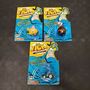 The-Tick-Hard-Drivin-Tick-Wacky-Action-Windups-Toy-Lot-3-Dyna-Mole-Sewer-Urchin