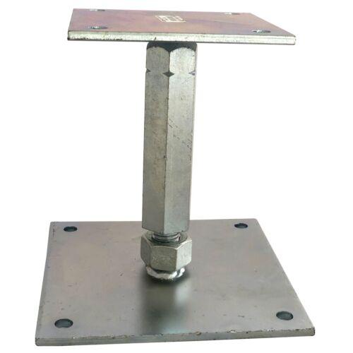 Pfostenträger Typ A Höhenverstellbar extra stabil Stützfuss M18 Pfostenschuh Neu