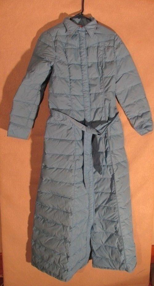 S4023 Frostline Kit Women's Small bluee Snap Up Long Puffer Coat