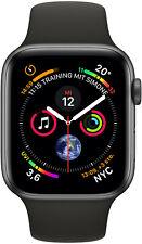 Apple Watch 4 GPS 44mm Space Grau Aluminium Sport Band schwarz MU6D2 (Wie Neu)