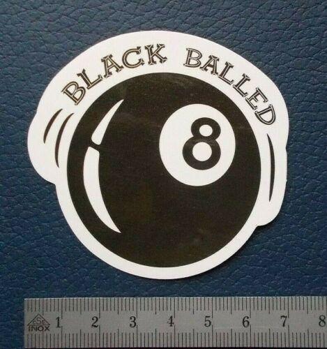 "Sticker Adhesivo /""Black 8/"" brillo-Optik StickerBomb skateboard portátil"