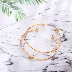 Beauty-Women-Cuff-Gold-Plated-Open-Knotte-Arrow-Bangle-Bracelet-Set-Jewelry-Gift