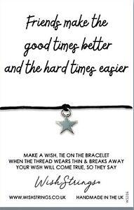 Wish Bracelet. Friends Make Good Times. Handmade in the UK Gift For Friend