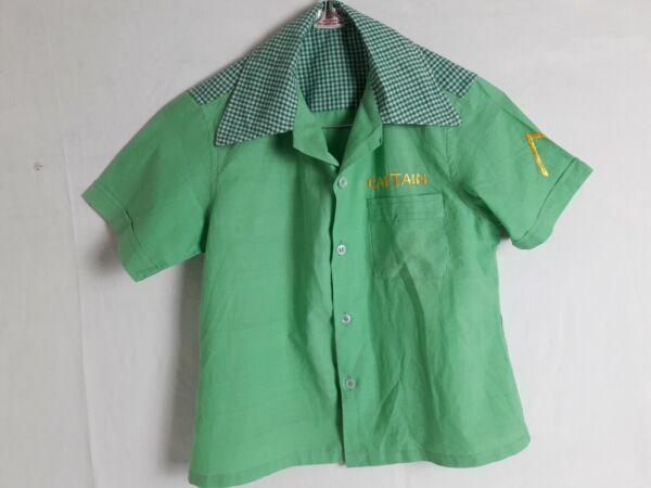 Compiacente Chemise Manches Courtes Enfant T.8/9a Vintage 70 Child Short-sleeved Shirt 8/9yr