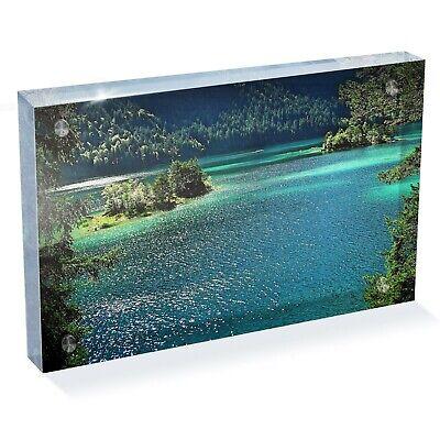 """Acqua Di Lago Natura Foresta Pluviale Foto Blocco 6 X 4"""" - Arte Scrivania Ufficio Regalo #13075- Evidente Effetto"""
