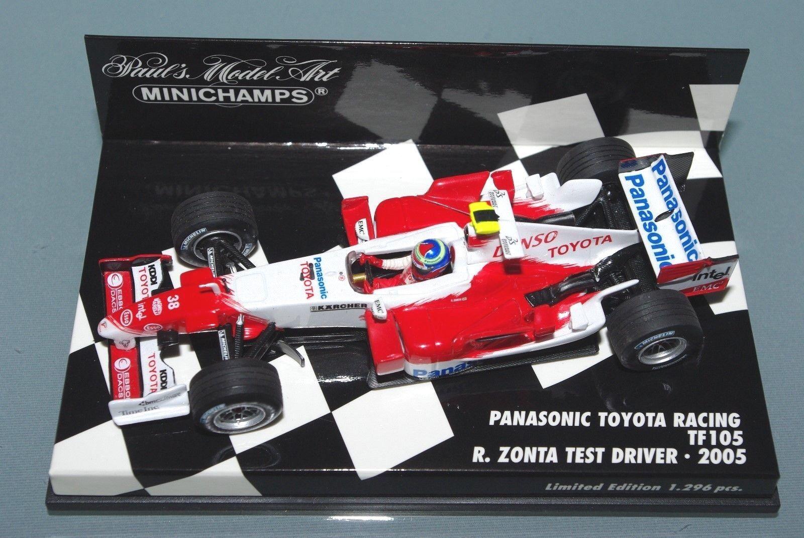 Minichamps F1 1 43 PANASONIC TOYOTA RACING TF105 RICARDO ZONTA TEST DRIVER 2005