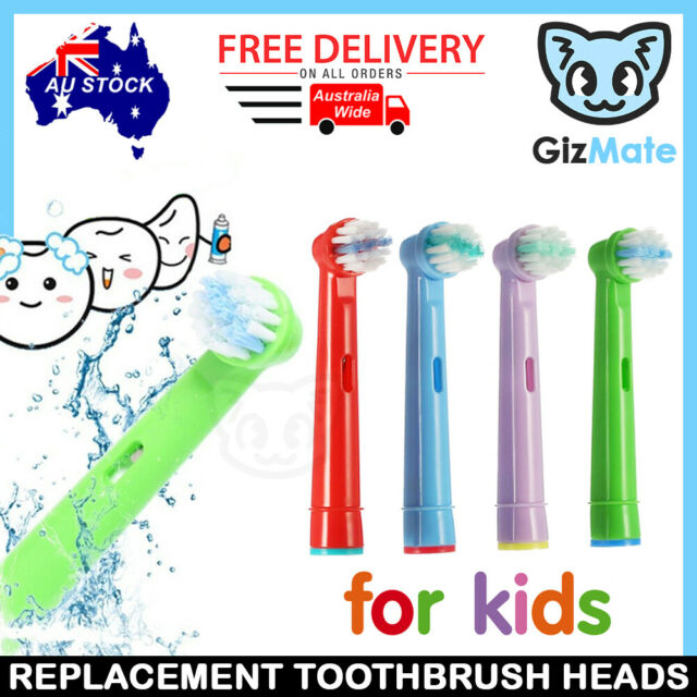 4pcs Children Kids Replacement Brush Heads for Oral-B Stages Electric Toothbrush