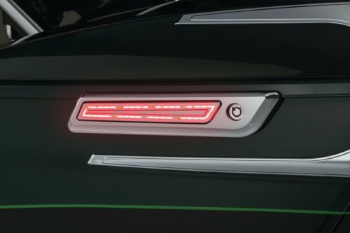 Kuryakyn 5477 Black LED Run Turn Brake Saddlebag Hinge Accents 14-19 Harley FLH