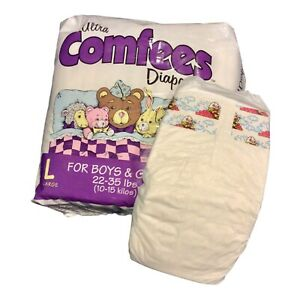 Vintage Ultra Comfees Plastic Backed Diaper Size Large