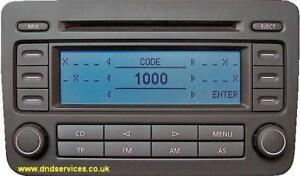 vw refurbished stereo radio cd rcd 300 rcd300 ebay. Black Bedroom Furniture Sets. Home Design Ideas