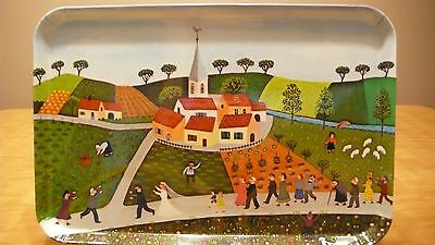 VILLEROY & BOSCH PLASTIC SERVING TRAY WEDDING PROCESSION MADE IN ITALY