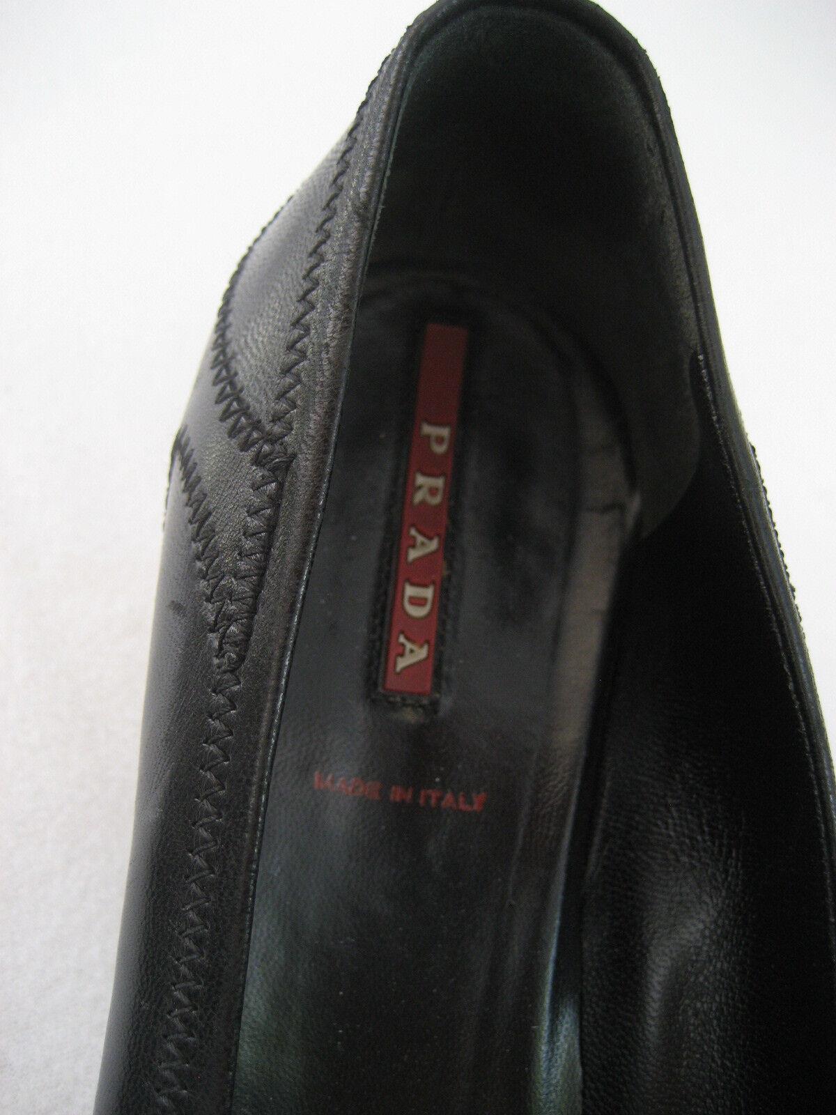 Prada Pumps Leder Leder Leder schwarz Gr. 38 Klassiker gebraucht Top Zustand d598e3