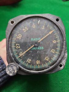 Salvage Kearfott ID-91A/ARN-6 Radio Compass Indicator Aircraft Gauge