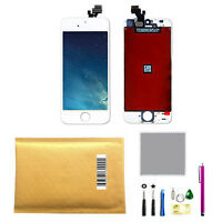 White LCD Touch Screen Digitizer Glass Assembly Replacement+Tools for iPhone 5 /