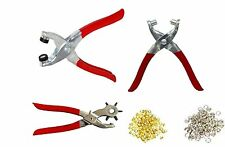 3pc Leather Belt Hole Punch+Eyelet Plier+ Snap Button Grommet Setter(bt525)