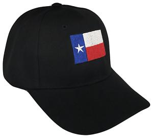Texas-State-Flag-Adjustable-Baseball-Cap-Caps-Hat-Hats-USA-UT-Longhorns-Black