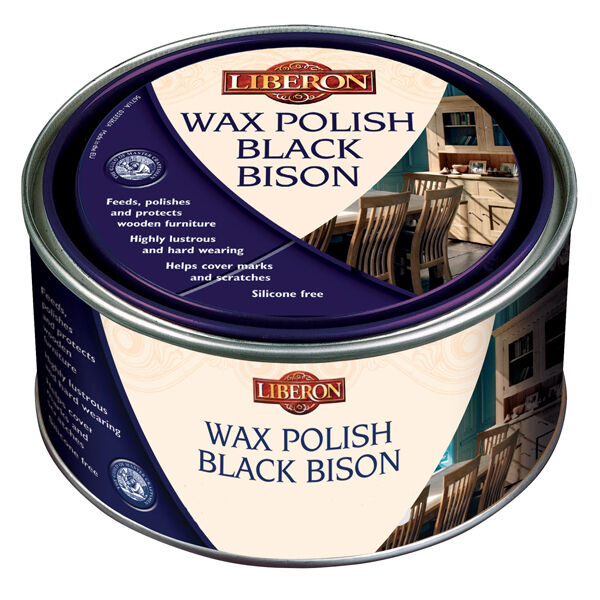 Liberon Bison Paste Wax Golden Pine 500ml - Helps cover marks and scratches