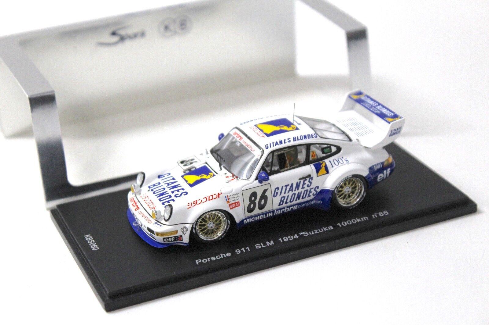 1 43 Spark Porsche 911 SLM 1994 Suzuka 1000 km NEW bei PREMIUM-MODELCARS