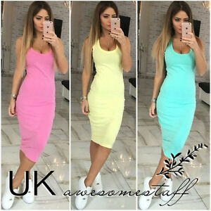UK-Womens-Bodycon-Pencil-Cocktail-Evening-Ladies-Summer-Party-Dress-Size-6-14