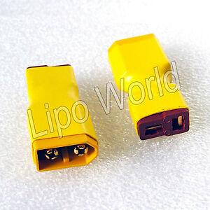 XT60-Stecker-auf-Deans-T-Buchse-Hochvoltstecker-Adapter-Lade-Kabel-LiPo-Akku