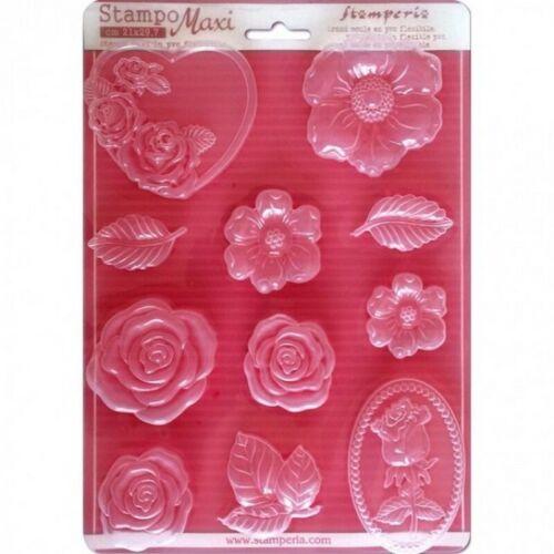Rosas K3PTA430 Nuevo Stamperia Soft Maxi MOLDE//Molde A4 21cm X 29.7cm