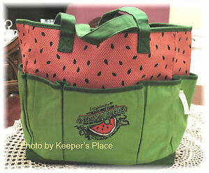 Longaberger-COLLECTORS-CLUB-Watermelon-Homestead-Celebration-Limited-Ed-Tote-New