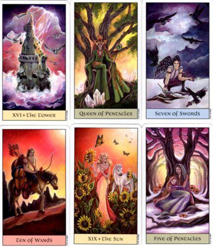 CRYSTAL VISIONS TAROT JENNIFER GALASSO DECK CARDS ESOTERIC WITH VELVET BAG NEW