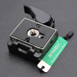 Camera-323-Quick-Release-Clamp-Adapter-with-Manfrotto-200PL-14-Compat-Plate-3-8