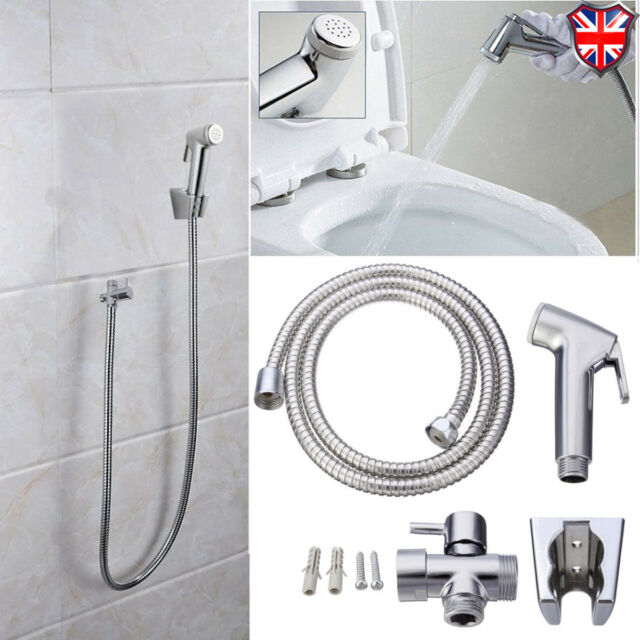 Chrome Bathroom Hand Held Shower Head Douche Bidet Toilet Spray Jet Hose Kit For Sale Online Ebay