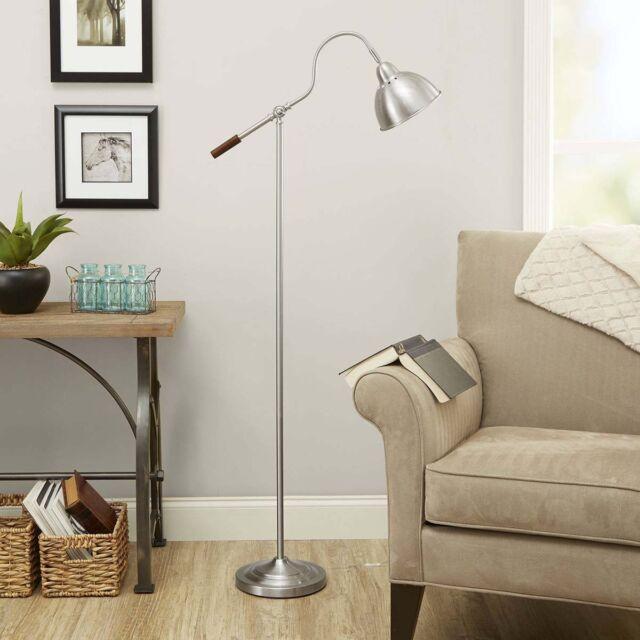 Delightful Better Homes And Gardens Gooseneck Barn Light Floor Lamp Reading Light  Silver