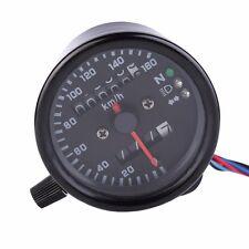 LED Motorcycle Odometer Speedometer Tachometer Speedo Meter Black Backlight