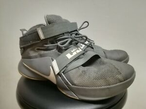 ec4d8038ca246 Nike Zoom Lebron James Soldier IX 9 Gray Basketball Shoes 13 749417 ...