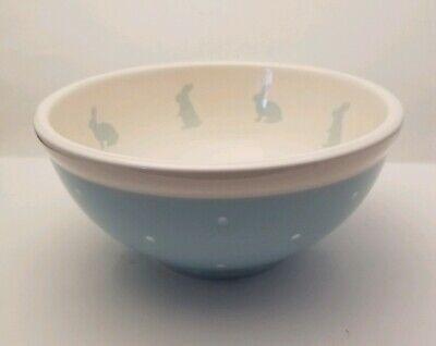 Easter Terramoto Ceramic Blue White Bunny Rabbit Nesting Bowls Set of 3