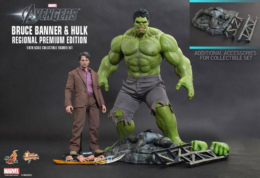 AVENGER - Bruce Banner & Hulk 1  6th skala Action Figur Set MMS230 (heta leksaker)