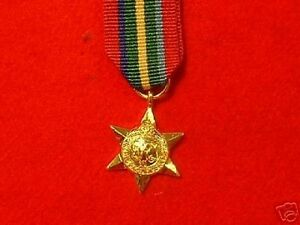 Quality-World-War-11Pacific-Star-Miniature-Medals
